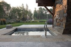Combs Residence - rustic - pool - other metro - by RLake Construction Montana Homes, Houzz, Home Builders, Custom Homes, Building A House, Construction, House Design, Rustic, Pools