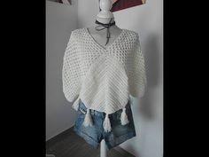 blusa boho chic tejida a crochet - YouTube