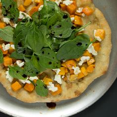 Butternut Squash and Goat Cheese Pizza