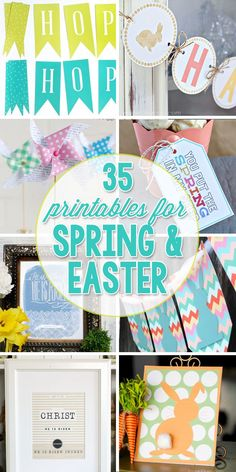 35 Free Printables for Spring & Easter 35 Printables for Easter and Spring Spring Crafts, Holiday Crafts, Holiday Fun, Holiday Ideas, Easter Printables, Free Printables, Party Printables, Easter Banner, Easter Activities