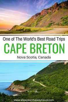 One of the World's Best Road Trips: Exploring Cape Breton Island - Your travel guide to Cape Breton in Nova Scotia Canada, including places to visit, where to stay an - Cool Places To Visit, Places To Travel, Travel Destinations, Nova Scotia Travel, East Coast Road Trip, Visit Canada, Cape Breton, South America Travel, Camping And Hiking