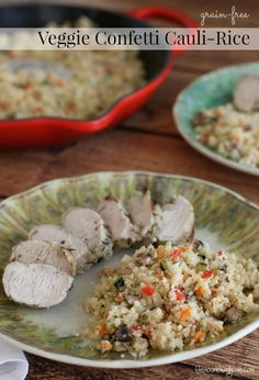 Veggie Confetti Cauliflower Rice - The Nourishing Home