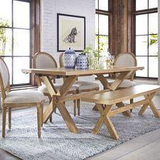 Torrance Natural Whitewash Turned Leg Dining Table Home - Natural whitewash dining table
