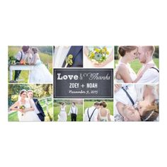 Shop Chalked Collage Wedding Thank You Photo Cards created by berryberrysweet. Personalize it with photos & text or purchase as is! Thank You Photos, Photo Thank You Cards, Custom Thank You Cards, Wedding Thank You Cards, Best Wedding Websites, Personalised Photo Cards, Simple Wedding Invitations, Save The Date Cards, Colorful Backgrounds