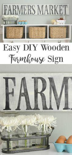 Easy DIY Wooden Farmhouse Sign