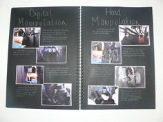 AS Photography, A3 Black Sketchbook, Photograph Manipulations, ESA Theme…