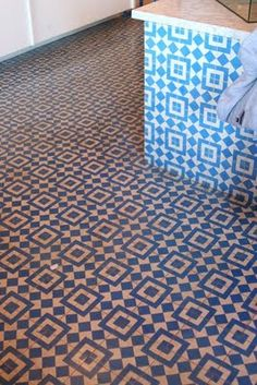 Mix of encaustic tiles