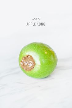 DIY: Edible Apple Kong Dog Toy - just remove the core + seeds and stuff with desired filling