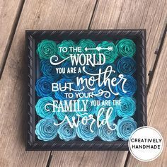 Mother's Day gift, Mother's Day shadow box, mom, mother, grandma, Mother's Day, gifts, mom gifts, #motherdaygifts