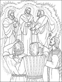 Jesus Is Transfigured - Coloring Page