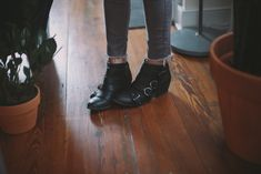 if you're having any trouble wearing ankle boots with jeans, here's a little tip that worked for me and my short legs