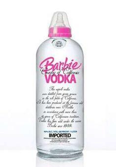 I Barbie anything. In love with Barbie vodka! Pop Bottles, Liquor Bottles, Baby Bottles, Vodka Bottle, Bottle Top, Alcohol Bottles, Vodka Alcohol, Tequila Bottles, Absolut Vodka