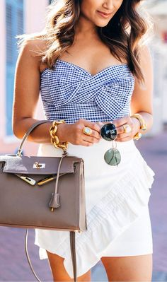 #summer #outfits  Here's A Peek At What's Coming Up On The Blog This Week! Who Else Is Obsessed With This Gingham Cropped Top?