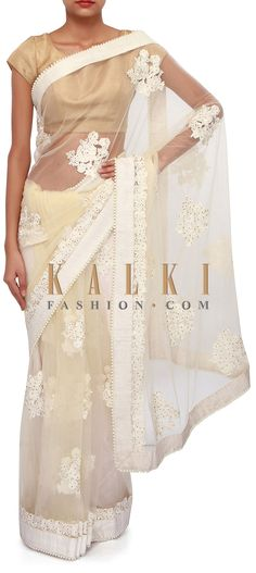 Buy Online from the link below. We ship worldwide (Free Shipping over US$100). Product SKU - 267060. Product Link - http://www.kalkifashion.com/lime-yellow-saree-adorn-in-thread-embroidery-only-on-kalki.html
