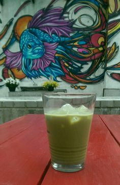 New summer drink: iced Matcha with condensed milk