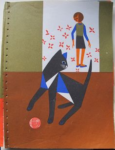 Fredun Shapur Book Illustrations Blackie and by SandrasCornerStore, $7.95