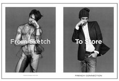 Creative Review - Rankin's French Connection campaign sketches designs onto naked models
