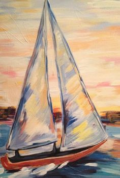 Paint Nite | Sailboat and the sunset