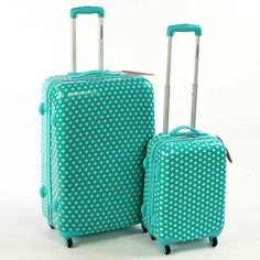 Constellation Polka Dot Luggage  49.00 GBP, From Constellation's Catwalk Range, Top and side carrying handles, Security zips, Retractable trolley mechanism with push button,   Constellation Luggage Features:  Polka dot design, 4 multi-directional wheels, One fully lined main compartment with double zipper pullers, Cabin Case: 32 x 31 x 45.7 cm (13 x 12 x 18 ins)