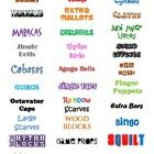 These labels can be printed on envelope label sticker sheets and used on drawers and baskets to organize small items in your music classroom. Enjoy...