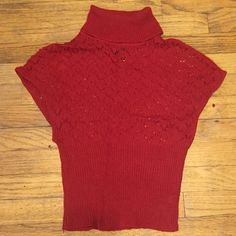 Wet Seal sweater Red Wet Seal sweater. Only worn once and is in excellent condition. Small cowl neck, loose top, with tight bottom. Size XS but can fit a small. Will negotiate price :) Wet Seal Sweaters