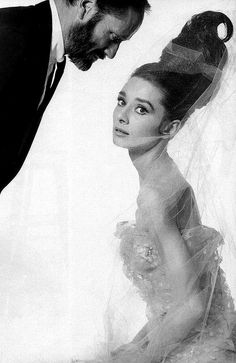 Mel Ferrer and Audrey pose for Bert Stern as seen in Vogue 1963