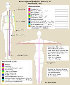 Viking Tunic Measuring Guide