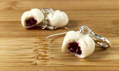 Polymer clay dim sum charm earrings necklace or key by URTnRACKYs