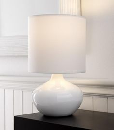 The Serena table lamp from Rouge Living is a sleek and stylish lamp. Its classic design with rounded glass ceramic base and large coordinated cloth shade is perfect for a bedroom or entrance setting. Modern White Table Lamps, Lamp Decor, Ceramic Table Lamps, Table Lamp, Yellow Table Lamp, Red Table Lamp, White Lamp, Bedroom Lamps, Ceramic Table