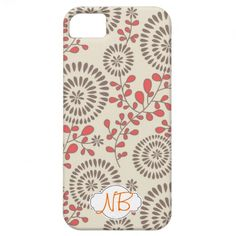 Cute Floral iPhone 5 Case with Optional Monogram