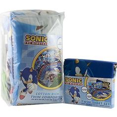 Sega Sonic The Hedgehog Twin Single Bed Comforter Sheet Set Kids Bedding Exclusive Deal