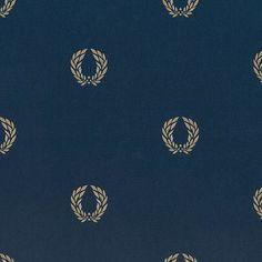 "Norwall Wallcoverings Inc Silk Impressions 32.7' x 20.5"" In Reg Laurel Leaf Wallpaper Color: Navy / Gold"