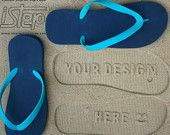 Design Your Own Sand Imprint Flip Flops-Leave Your Message in the Sand!