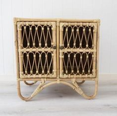 Rattan cane console sideboard by Sea Tribe, perfect for coastal and boho style interiors Console Cabinet, Sideboard, Rattan Coffee Table, Small Entry, Rattan Furniture, Kids Bedroom, Master Bedrooms, Coastal Style, Interior Design Inspiration