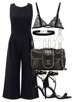"""""""Untitled #2457"""" by theeuropeancloset on Polyvore featuring Rebecca Minkoff, Chanel, Schutz, Miss Selfridge, Belk Silverworks and Forever New"""