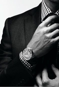 check, simple watch. masculine but understated :)