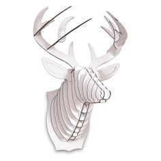 I pinned this Bucky Deer Trophy Head in White from the Cardboard Safari event at Joss & Main!