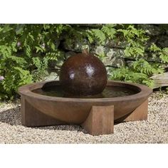 Have to have it. Campania International Low Zen Sphere Cast Stone Fountain $929.99
