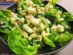 Salade met broccoli, bloemkool en avocado - Pascale Naessens