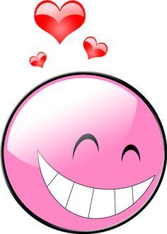 PINK LOVING SMILEY