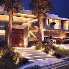 Best house architecture facade dream homes Ideas Dream Home Design, Modern House Design, Luxury Homes Dream Houses, Dream Homes, Modern Mansion, Dream House Exterior, House Entrance, Facade House, House Goals