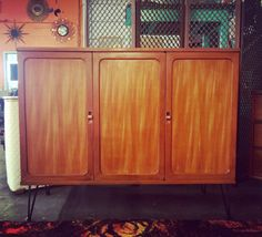 Vintage 1950s Mid Century Modern Cabinet by by RocketCityRetro