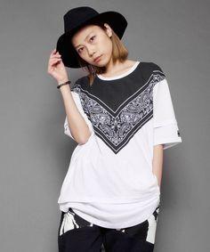 L.H.P(エルエイチピー)のLHP women/wisdom/バンダナ00T(Tシャツ/カットソー)|ホワイト