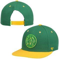 8d4904e9 Boston Celtics '47 Brand Hardwood Classics Rocco Neon Adjustable Snapback  Hat - Kelly Green