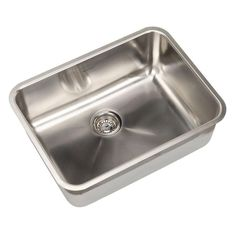 american standard prevoir undermount brushed stainless steel 2475x1875x9 0 hole single bowl - Kitchen Sink American Standard