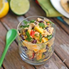 Mango Chicken Salad – This was great. sour cream for greek yogurt since I didnt have any and served this inside whole wheat pita pockets. I used red onion and black beans as add ins. Meat Salad, Soup And Salad, Lunch Snacks, Summer Snacks, Clean Eating, Healthy Eating, Mango Chicken Salads, Healthy Chicken, I Love Food