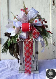 Winter lantern swag Christmas lantern swag by MrsChristmasWorkshop