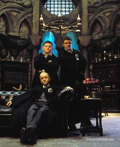 Harry Potter and the Chamber of Secrets - Promo shot of Tom Felton, Jamie Waylett & Josh Herdman