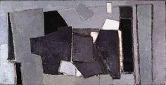 """Nicolas de Staël, """"Composition 1950″ on ArtStack #nicolas-de-stael #art"""