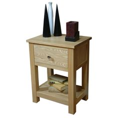 The Wooden Furniture Store's living room essential - a single drawer lamp table from our Mobel Oak range